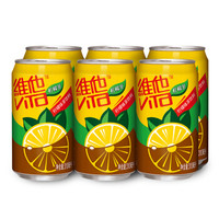 维他奶 维他柠檬茶饮料310ml*6罐 铝罐装 柠檬果味红茶 饮品 *3件