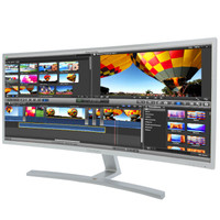 ViewSonic 优派 VX3515-SCHD 35英寸VA曲面显示器(2560×1080、2500R、DC调光)