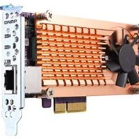 QNAP QM2-2P10G1TA Pci-E 扩展卡,带 2 个 PCIe 2280 M.2 SSD 插槽,PCIe Gen2 X 4,1 个 AQC107S 10GbE