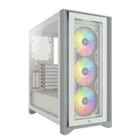 USCORSAIR 美商海盗船  iCUE 4000X RGB 钢化玻璃炫彩中塔机箱 白色 (支持360水冷/36cm显卡/RGB风扇)