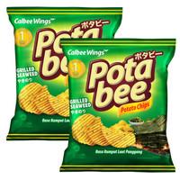批发价:卡乐比(Calbee)海苔味薯片 68g*2 *9件