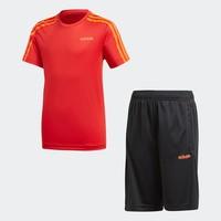 adidas 阿迪达斯 大童装训练短袖运动套装