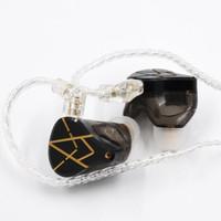 KZ ASX 有线入耳式耳机动铁旗舰级二十单元hifi降噪监听耳返耳塞运动音乐耳机 乌金黑 无麦