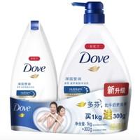 移动专享、、限地区: Dove 多芬 沐浴乳套装(深层营润1kg+300g)