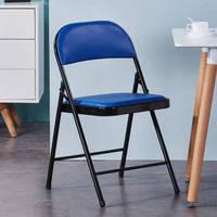 0719 靠背折叠椅  黑腿+蓝面