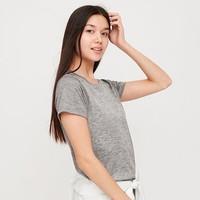 限S码:UNIQLO 优衣库 422812 DRY-EX 女士圆领T恤