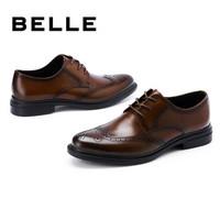 京东PLUS会员:BeLLE 百丽 6UT01AM0 布洛克正装皮鞋