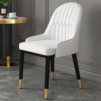 移动专享:零梦 欧式轻奢靠背椅 纯白色