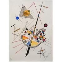 康定斯基《微妙的张力》版画 抽象 背景墙挂画装饰画
