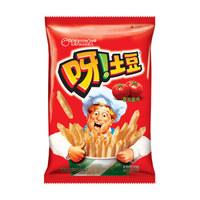 Orion 好丽友 休闲零食  膨化薯条薯片 呀!土豆番茄酱味70g/袋(新老包装随机发放) *2件
