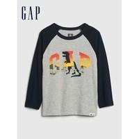 Gap 盖璞 男童LOGO纯棉长袖T恤