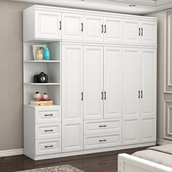 卓禧 衣柜卧室两门三门四门五门整体实木质柜子简易木板材大衣橱 两门主柜