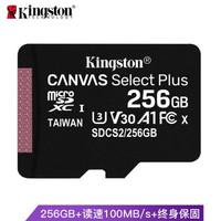 金士顿(Kingston)256GB A1 V30 U3 switch内存卡 TF(MicroSD)存储卡 高品质拍摄 读速100MB/s 写速85MB/s