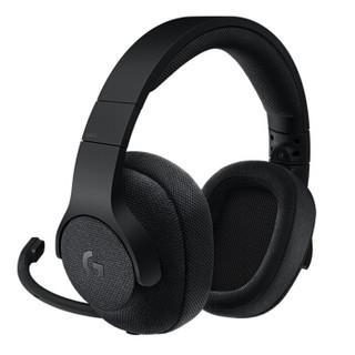 罗技(G)G433 有线游戏耳机头戴式 杜比7.1环绕声吃鸡耳机听声辩位电脑电竞游戏耳机绝地求生 G433黑+G102黑