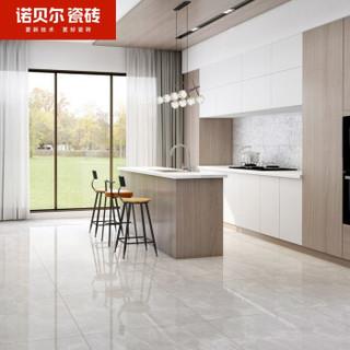 诺贝尔瓷砖  防滑大理石瓷砖客厅地砖800x800 现代简约耐磨地板砖厨房卫生间墙地砖(需整箱拍下) 卡门灰 800*800(单片价格 3片/箱)