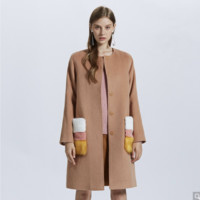 ochirly 欧时力 1GZ3347090 女士羊毛混纺外套