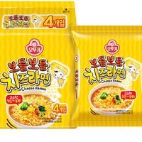 不倒翁芝士拉面韩国进口方便面奶酪芝士面奶油起司泡面微辣111g*4