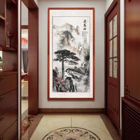97㎡诗意新中式,入户清雅又隽永,谁说小户型不能中国风?