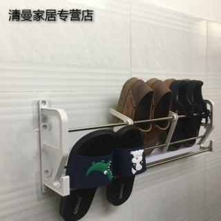 免钉防盗门后挂式小鞋架磁粘新款简易省空间家用创意收纳拖鞋架子 十颗磁架