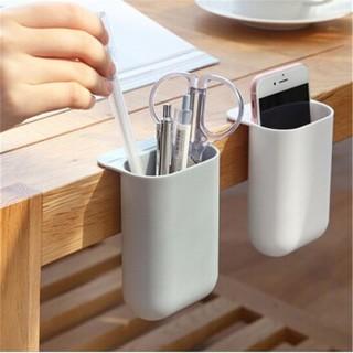 卡沐森 粘贴可挂式显示器收纳盒 白色+灰色2个(加大号)