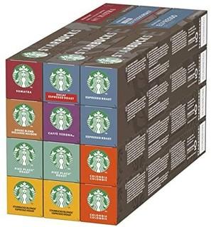 STARBUCKS 星巴克 Starbucks 星巴克 Nespresso 咖啡胶囊 8种口味 120粒
