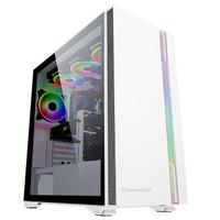 Tt(Thermaltake)挑战者H6 白色 机箱电脑主机(ARGB炫彩灯条/双侧磁吸开门/玻璃侧透/支持360水冷/E-ATX)
