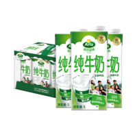 Arla爱氏晨曦 全脂纯牛奶1L*6盒 *4件