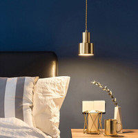 斯帝罗兰 北欧小吊灯全铜灯罩吧台灯现代简约门厅过道床头吊灯黄铜餐厅灯具 单头吊灯