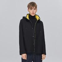 Trendiano 欧时力集团男装英伦风休闲羊毛呢子连帽外套