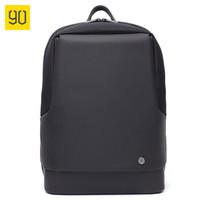 90分City城市通勤15.6英寸双肩包 商务休闲运动大学生背包 电脑包 男士电脑包 黑色