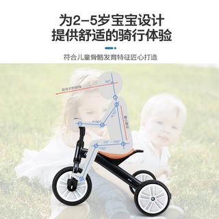 星辉宝马BMW儿童三轮车脚踏车遛娃神器宝宝车子幼儿折叠三轮推车(天蓝色【折叠专利版 带围栏+遮阳伞 适龄10个月-4岁】)