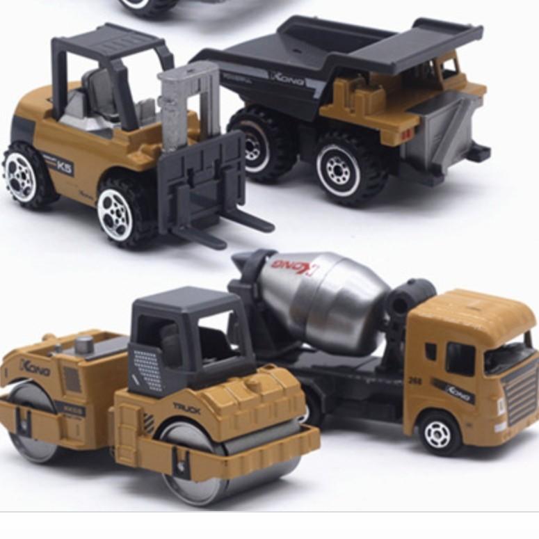 甄萌 6只装合金工程车 汽车模型