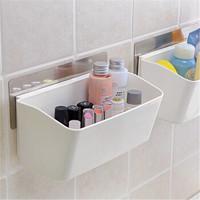 无痕挂式置物架办公桌面收纳盒厨房浴室粘贴式杂物架小壁挂架