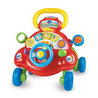 VTech伟易达宝宝学步车手推车防侧翻学走路助步车多功能婴儿玩具(2合一学步车)