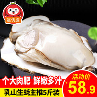 鲜活乳山精品三倍体生蚝5斤装 牡蛎海蛎子 生鲜贝类海鲜水产生鲜星好物 主推5斤(100-150g)