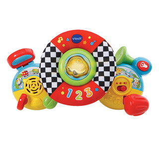 VTech伟易达学步安抚套装 婴儿出行安抚玩具手推车多功能学步车(多功能学步车(粉色) + 婴儿方向盘)