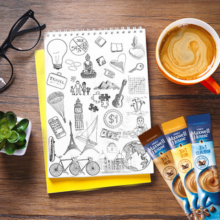 麦斯威尔三合一速溶黑咖啡粉特浓/原味/奶香60条防困提神学生必备([120条组合装]特调浓郁60条/盒 + 经典原味60条/盒)