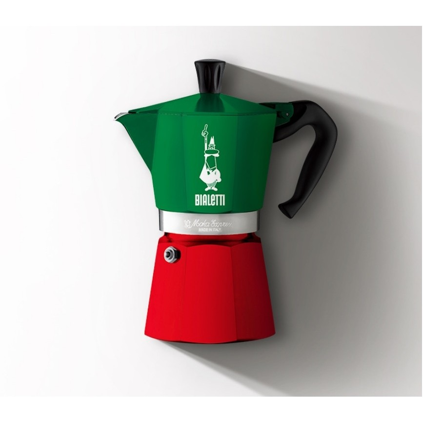 Bialetti 比乐蒂 摩卡壶咖啡壶 三色旗 6杯份