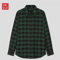 UNIQLO  优衣库 431478  男士法兰绒格子衬衫