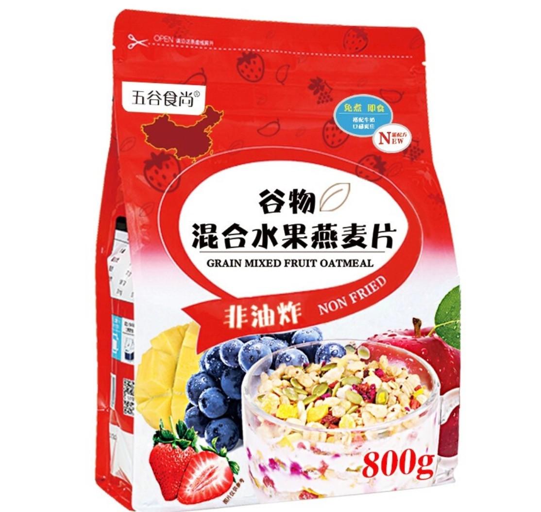 五谷食尚 谷物混合水果燕麦片 800克