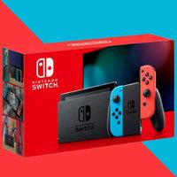 Nintendo 任天堂 Switch续航加强版 游戏掌机 日版  红蓝