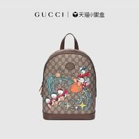 GUCCI古驰Disney x Gucci联名款唐老鸭背包 552884 2N2AT 8683 米色/乌木色