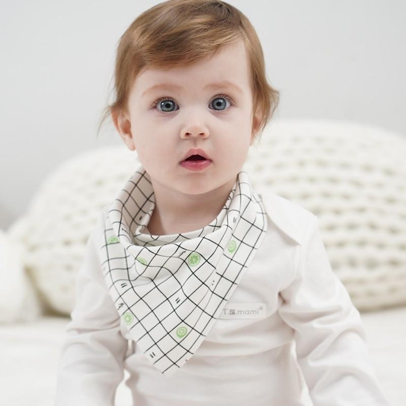 Temami 婴儿口水巾 随机色 3条装