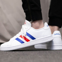 adidas 阿迪达斯 春季新款男女款低帮网球鞋 小白鞋 运动休闲鞋