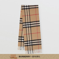 BURBERRY 经典格纹羊绒围巾 70181731