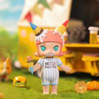 POPMART泡泡玛特 molly美食派对系列盲盒公仔摆件潮玩桌面摆件生日礼物 molly美食派对-单个盲盒(随机不指定)