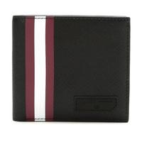 巴利 BALLY 男士PVC短款钱包钱夹黑色红白条纹 BRASAI OF 36 6224360