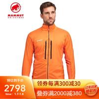 MAMMUT猛犸象Eigerjoch男士抓绒透气保暖舒适夹棉上衣夹克外套 橘色 L