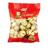 俄罗斯进口alenka爱莲巧大头娃娃半球形布丁味巧克力糖果婚庆喜糖休闲零食500g