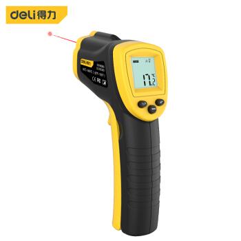 得力(deli) 红外线测温仪食品烘焙测温枪水温油温电子温度计高清数显(-30到380度) DL333380